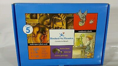 Hooked on Phonics HOP Learn to Read Level 5 Complete Reading Homeschool Blue