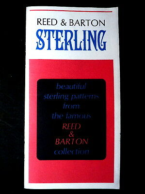2 Reed & Barton Sterling Silver Flatware Catalogs 1966-67: Patterns & Price List