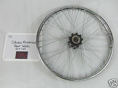 Motorcycle Chrome Front Spoked Wheel - 21 x 1.40 - Lifan Grit