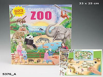 Depesche 5376_A - Create Your Zoo, Malbuch Mit Stickern, Neu