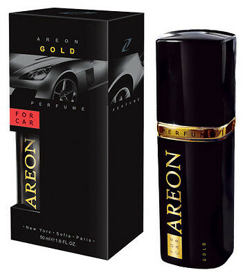 Areon Quality Car Perfume Luxury Air Freshener GOLD - 50ML *NEW*