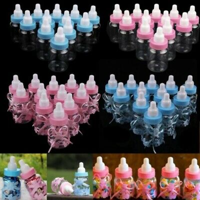 24X Boys & Girls Fillable Bottles Candy Gift Box Baby Shower Baptism Party Favor