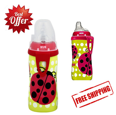 Bottle Baby NUK Ladybug Silicone Spout Active Cup 10 Ounce Baby Feeding NEW