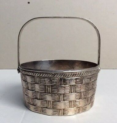 Vintage RAIMOND ITALY Silver Plated Basket Woven Motifs Small & Cute