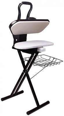 EZ-Stand Fabric Steam Press Free Standing Ironing Clothes Garments Folding Black