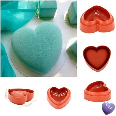 Love Heart Shaped Wine Red Silicone Mold Cake Pan Mousse Dessert Decoration Sale