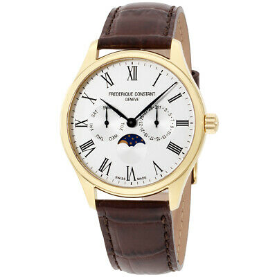 Frederique Constant Classics Silver Dial Leather Strap Men's Watch FC-260WR5B5