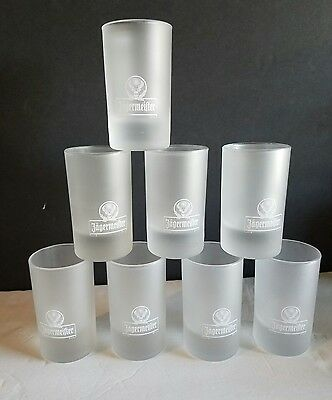 Set of 8 Jagermeister Frosted Shot Glasses BRAND NEW 4 CL