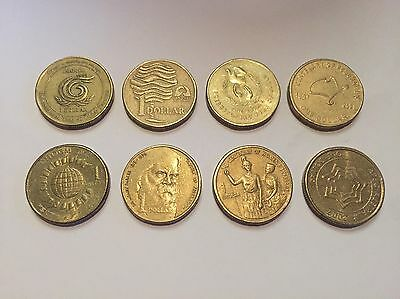 $1 Coin Set 8 Coins Rare Collectible Decimal Currency Australian Federation