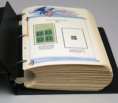 USA 380+ MINT NH Plates Blocks Collection on Pages