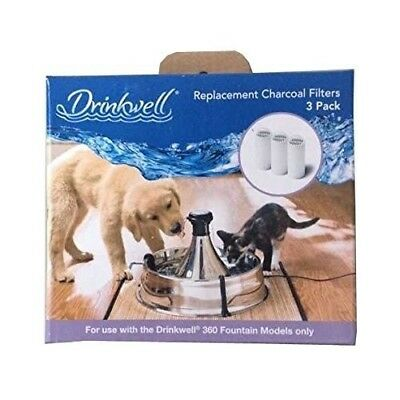Drinkwell 360 Charcoal Filters 3 Pack for the Petsafe 360 Water fountain petsafe