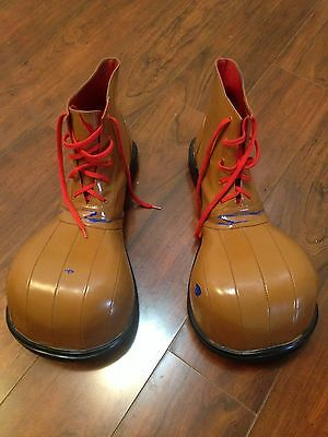 Professional Clown Costume shoes Adult All-Size Lace up Ankle Boots
