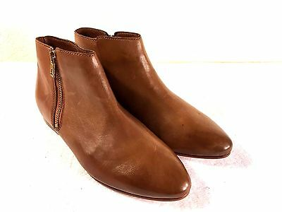 abedd6697dc1d Ted Baker Jeema womens brown leather ankle zipper boots size 7 Nice!