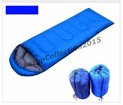 Camping Sleep Bag Envelope OutDoor Hiking Travel Sack Sheet Single Bed Pad Fast