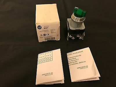 Allen Bradley 800T-16HG2KB6AX Illuminated Selector Switch : NIB : No Hardware