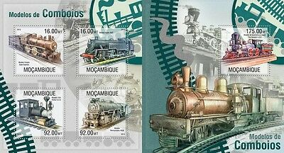 MOZ13304ab Mozambique 2013 trains trains MNH SET