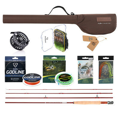 Fly Rod and Reel Combo with Fishing Line & Fly Flies Full Kits for Fly Fishing