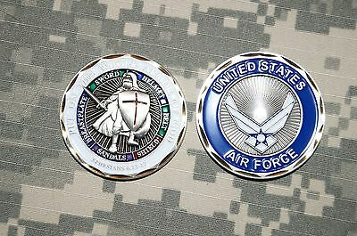 Challenge Coin United States Air Force Put on the Whole Armor of God