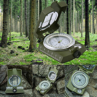 Military Army Hiking Camping Lens  OutdoorSurvival Lensatic Mini Pocket Compass