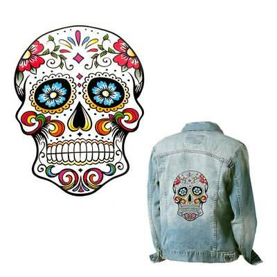 Sugar Skull Heat Transfer Patch Sewing Clothes Bag Mexican Day of the Dead Die