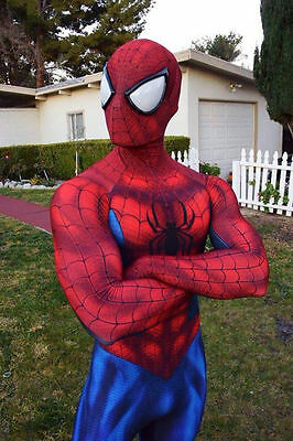 Adult Men Spiderman Costume Cosplay Jumpsuit Clothes Superhero Zentai with Mask