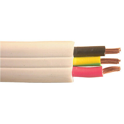 NEW Twin Earth Flat AC Mains Cable WB1568