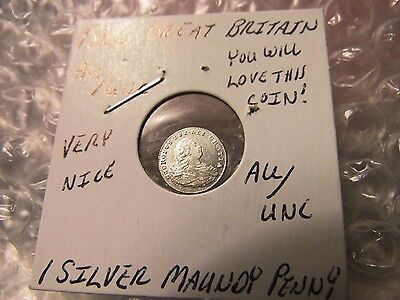 Great Britain 1800 Maundy Penny AU/UNC Silver Coin