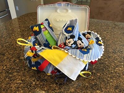Cute Mickey Mouse Baby Boy Gift Set, Great For Baby Shower, Christmas Gift