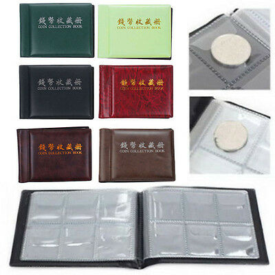 60 Coins Collection Storage Penny Pockets Money Album Book Coin Holder
