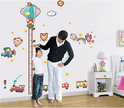 Removable Wall Sticker DIY Decal kids growth chart height measure Home Art Decor