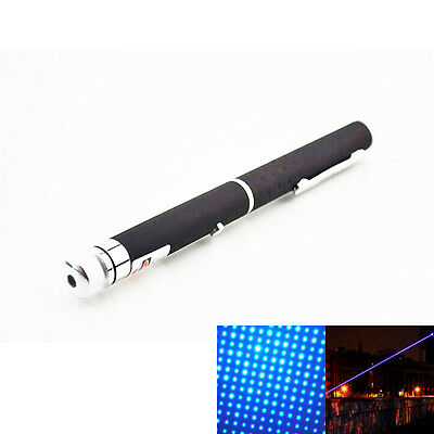 New 405nm Visible Beam Light Powerful Blue Laser Pointer Pen Torch Flashlight