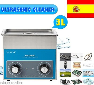Ultrasonic Cleaner Limpieza por ultrasonidos Profesional 600ml/3L/6L 40 KHz EU