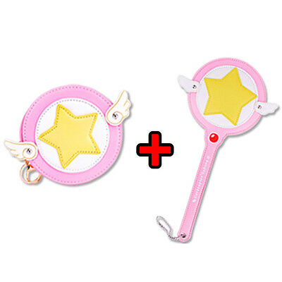 2Pcs Card Captor Sakura Star Wand Cardcaptor Figure Magic wand Car card COSPLAY