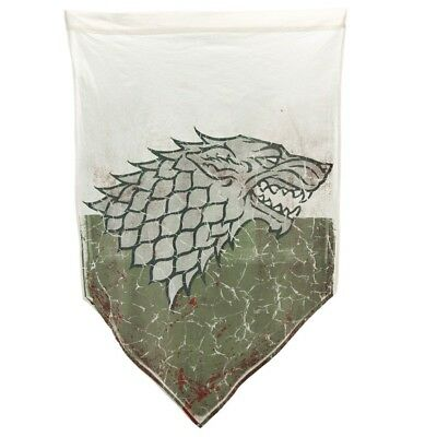Game Of Thrones Battle Worn Banner - House Of Stark Pennant