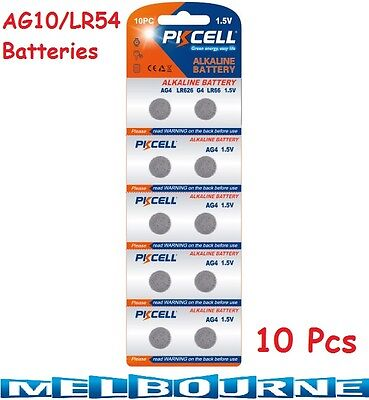 10 pcs AG10 GP189 SR54 LR1130 L1131 1.5V Alkaline Button Cell Battery PKCell #SC