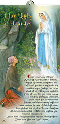 Lady Of Lourdes Wooden Plaque Catholic Religious Candles Statues Pictures Listed