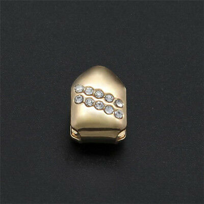 Gold Single Grillz Tooth Clip 24k Plated Mouth Teeth Cap Grills Bling Hip Hop
