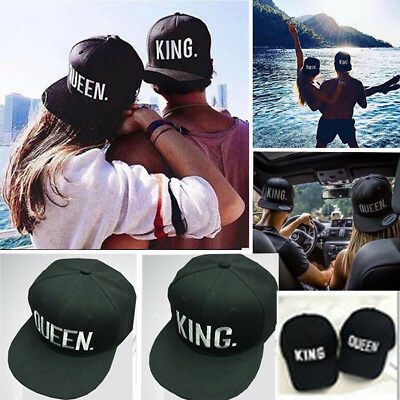KING / QUEEN Hat Couple Baseball Cap Men and Women Lover's Gift multi-style