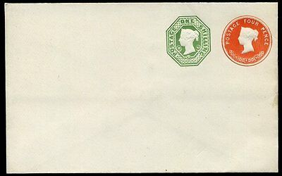 1892 Postal Stationery Envelope Stamped To Order 4d / 1s Unused