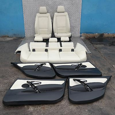 BMW 1 SERIES E87 LCi Lemon Leather Interior Seats with Airbag Door Cards