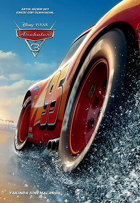 "002 Cars 3 - Pixar Lightning McQueen 2017 Cartoon Movie 24""x34"" Poster"