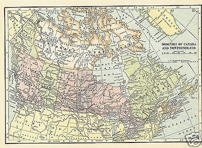 1927 Map Canada Mexico Central America 3 Maps C S Hammond Color Maps