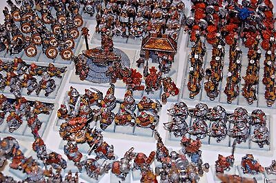 Warhammer Fantasy AoS Dwarf Dispossesed OOP well painted Magnetized Army GW