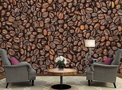 Coffee Beans - Shop Wall Mural Photo Wallpaper Image Decor Giant Paper Poster