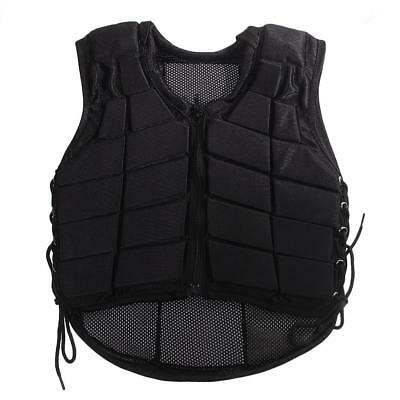 Kids Equestrian Protective Clothing Horse Riding Safety Vest Body Protector BLK