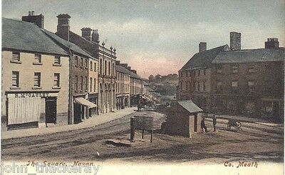 The Square, Navan Co. Meath postmarked 4th March 1904 Beautiful Card (See Pics)
