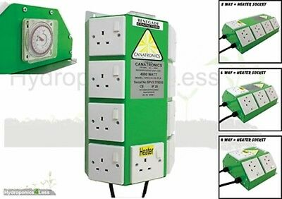 Canatronics Timer 4 6 8 Way Professional Contactor Relay Grow Light Hydroponics