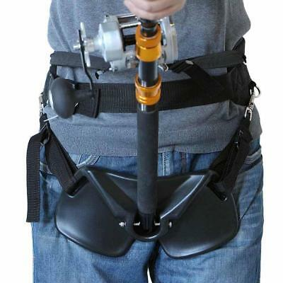 Pro Offshore Fishing Fighting Belt Stand Up Rod Holder Waist Harness Gimbal