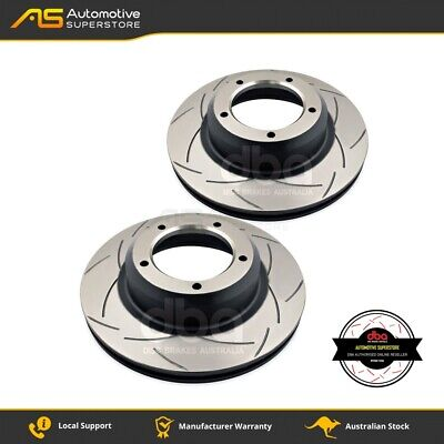 DBA086S Brake Disc Rotor Pair 4X4 Survival Series T2 Slotted DBA