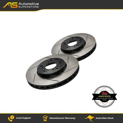 DBA2096S Brake Disc Rotor Pair 4X4 Survival Series T2 Slotted DBA